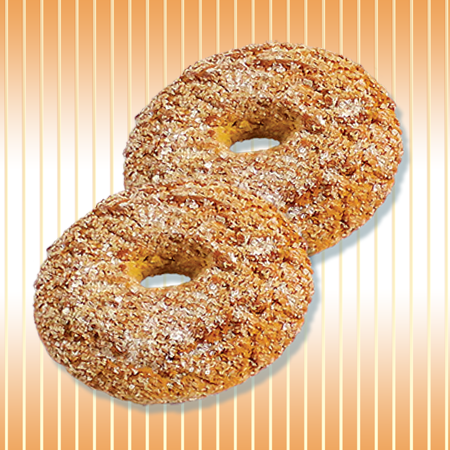 Oat ring with sugar