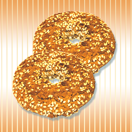 Oat ring with sesame