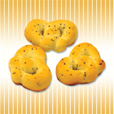Pretzel with poppy seeds