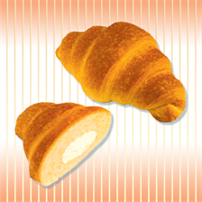 "Croissants with fillings: ""Plombir"", ""Banana"", ""Baked milk"""