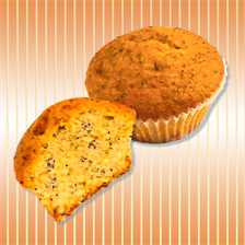 Muffin with poppy seeds