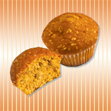 Muffin with sesame seeds
