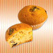 Muffin with prunes